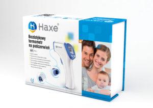 Opakowanie- termometr bezdotykowy HAXE